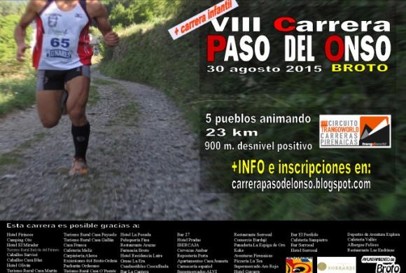 VIII Carrera Paso del Onso, 23 km y 900 m D+, 30 de agosto